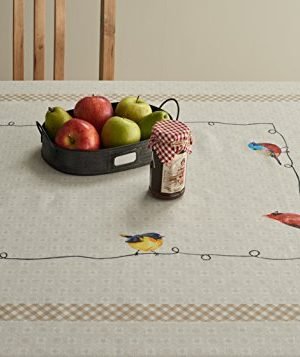 Maison D Hermine Birdies On Wire 100 Cotton Tablecloth 54 Inch By 72 Inch 0 1 300x357