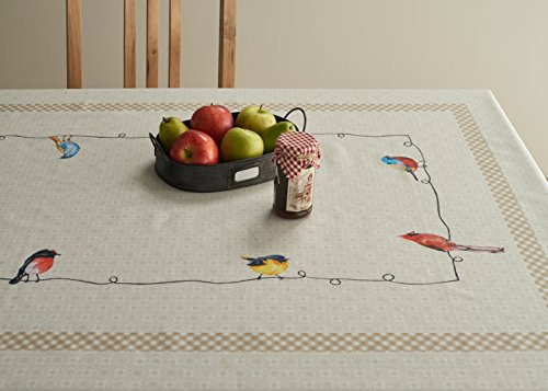 Maison D Hermine Birdies On Wire 100 Cotton Tablecloth 54 Inch By 72 Inch 0 1