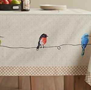 Maison D Hermine Birdies On Wire 100 Cotton Tablecloth 54 Inch By 72 Inch 0 2 300x296