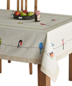 Maison D Hermine Birdies On Wire 100 Cotton Tablecloth 54 Inch By 72 Inch 0 300x360