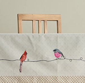 Maison D Hermine Birdies On Wire 100 Cotton Tablecloth 54 Inch By 72 Inch 0 4 300x291