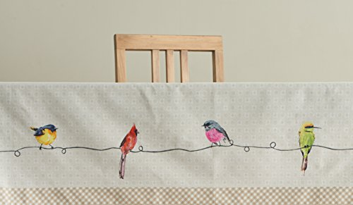 Maison D Hermine Birdies On Wire 100 Cotton Tablecloth 54 Inch By 72 Inch 0 4
