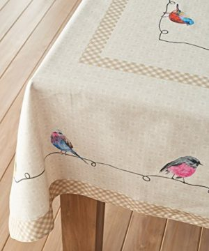 Maison D Hermine Birdies On Wire 100 Cotton Tablecloth 54 Inch By 72 Inch 0 5 300x360