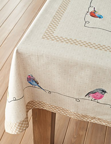 Maison D Hermine Birdies On Wire 100 Cotton Tablecloth 54 Inch By 72 Inch 0 5