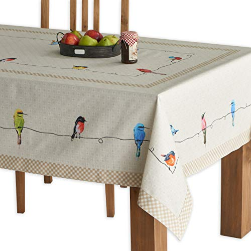 Maison D Hermine Birdies On Wire 100 Cotton Tablecloth 54 Inch By 72 Inch 0