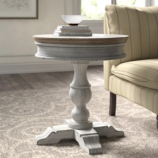 Marion Pedestal Accent Table