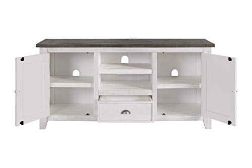 Martin Svensson Home Monterey TV Stand White With Grey Top 0 3