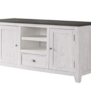 Martin Svensson Home Monterey TV Stand White With Grey Top 0 300x333