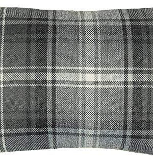 McAlister Textiles Angus Tartan Charcoal Grey 20 X 12 Inches Filled Pillow Check Woven Feel Bedroom Decor Throw Couch Cushion For Bedroom Sofa Living Room 50x30cm 0 300x317