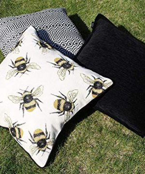 McAlister Textiles Bugs Life Filled Pillow Funky Tapestry Honey Bumblebee Yellow Black Decorative Decor Throw Couch Cushion For Bedroom Sofa Living Room Size 16 X 16 Inches 0 1 300x360