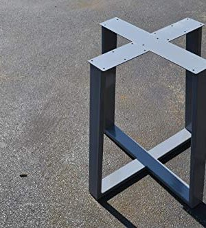 Metal Table Base Tapered Pedestal Style Any Size And Color 0 300x333