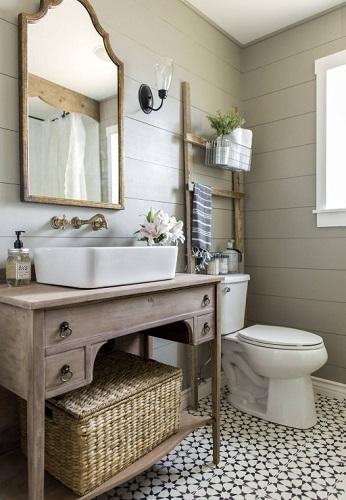 Modern Farmhouse Bathroom by Jenna Sue Design Co.