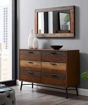 Modway Arwen Rustic Modern Wood 6 Drawer Bedroom Dresser In Walnut 0 300x360