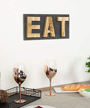 MyGift Rustic Grey Natural Wood Wall Mounted EAT Letter Sign Decor 0 1 300x360