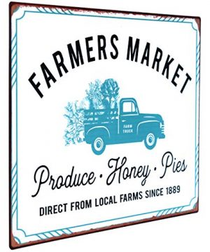 NIKKY HOME 14 X 10 Farmhouse Farmers Market Rustic Metal Wall Sign Plaque 0 0 300x360