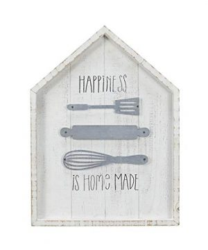 NIKKY HOME Happiness Is Homemade Wood Rustic Kitchen Wall Sign Decor 0 300x360