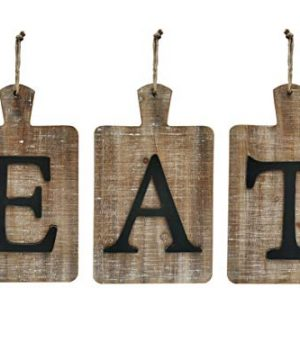 NITYNP EAT Sign Different Letter Rustic Farmhouse Country Decorative Wall Sign For Kitchen And Home Dcor 24 X 134 Inches 0 300x360