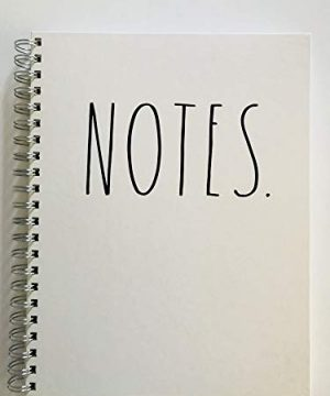 NOTES Rae Dunn Large Hard Cover Spiral Notebook 0 300x360