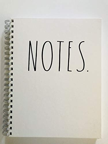 NOTES Rae Dunn Large Hard Cover Spiral Notebook 0