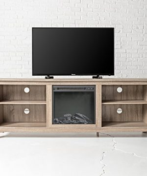 New 70 Inch Wide Fireplace Television Stand In Driftwood Finish 0 1 300x360