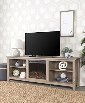 New 70 Inch Wide Fireplace Television Stand In Driftwood Finish 0 2 300x360