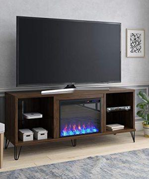 Novogratz Concord Fireplace 70 Walnut TV Stand 0 0 300x360