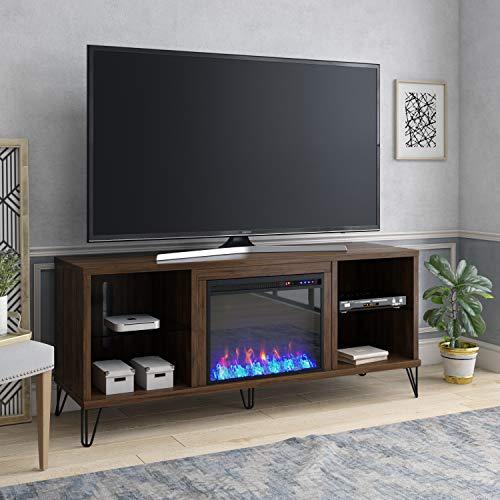 Novogratz Concord Fireplace 70 Walnut TV Stand 0 0