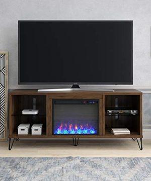 Novogratz Concord Fireplace 70 Walnut TV Stand 0 300x360