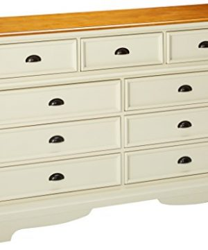 Oleta 9 Drawer Dresser With Bracket Feet Buttermilk And Brown 0 300x360