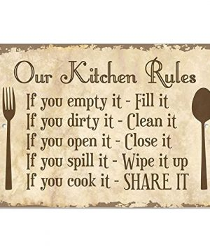 Our Kitchen Rules 9 X 6 Metal Sign 0 300x360