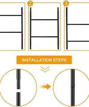PENGECO Blanket Ladder Towel Shelves Beach Towel Rack Scarves Display Holder Black 0 0 300x360