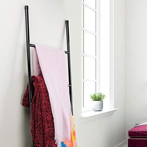 PENGECO Blanket Ladder Towel Shelves Beach Towel Rack Scarves Display Holder Black 0 2