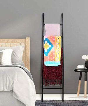 PENGECO Blanket Ladder Towel Shelves Beach Towel Rack Scarves Display Holder Black 0 300x360