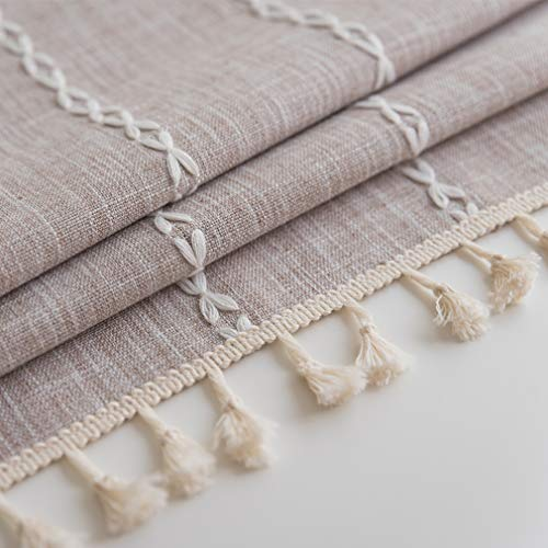 Pahajim Linen Rectangle Tablecloth Table Cloth Heavy Weight Cotton Linen Dust Proof Table Cover For Party Table Cover Kitchen Dinning Maroon Stripe Square55 X 55 Inch 0 0