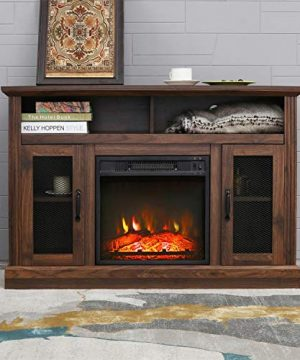 Patio Festival Fireplace Entertainment Center Wooden Electric Fireplaces Tv Stand Fire Place For TVs Up To 50 Wide Espresso 0 300x360