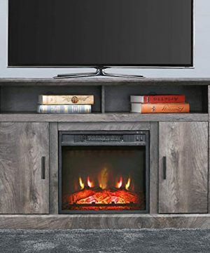 PatioFestival Electric Fireplace TV Stand Entertainment Center Corner Fire Place Heaters Tv Console With Generic Rustic Furniture For TVs Up To 50 Wide Rustic 0 0 300x360