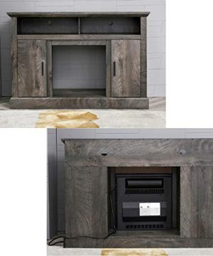 PatioFestival Electric Fireplace TV Stand Entertainment Center Corner Fire Place Heaters Tv Console With Generic Rustic Furniture For TVs Up To 50 Wide Rustic 0 2 300x360