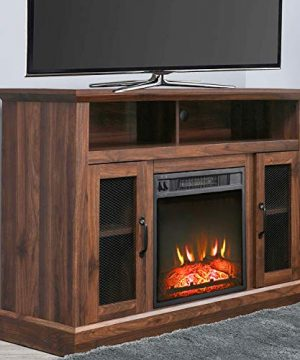 PatioFestival Fireplace TV Stand Electric Fire Place Heaters Entertainment Center Corner Tv Console With Fireplaces For TVs Up To 50 Wide Espresso 0 0 300x360
