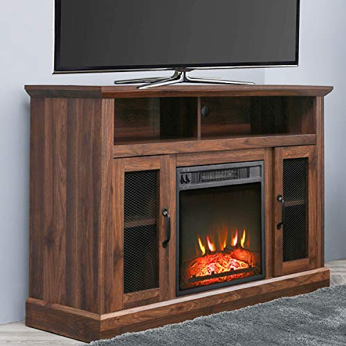 PatioFestival Fireplace TV Stand Electric Fire Place Heaters Entertainment Center Corner Tv Console With Fireplaces For TVs Up To 50 Wide Espresso 0 0