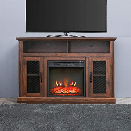 PatioFestival Fireplace TV Stand Electric Fire Place Heaters Entertainment Center Corner Tv Console With Fireplaces For TVs Up To 50 Wide Espresso 0
