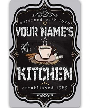 Personalized Kitchen Sign Durable Metal Sign 8 X 12 Or 12 X 18 Use IndoorOutdoor Makes A Great Gift For Kitchen And Restaurant Decor 0 300x360