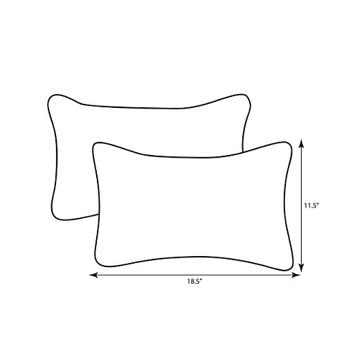 Pillow Perfect Decorative Red Solid Toss Pillows Rectangle 2 Pack 0 0