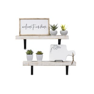 Pinecrest+Industrial+Grace+Simple+Bracket+2+Piece+Wall+Shelf+Set