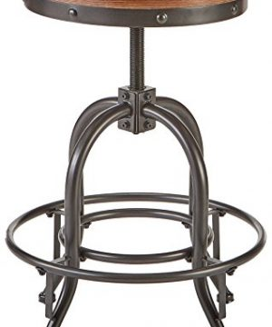 Pioneer Square Dane Metal And Wood Counter Height Swivel Bar Stool Set Of 2 Bold Brandy 0 0 300x360