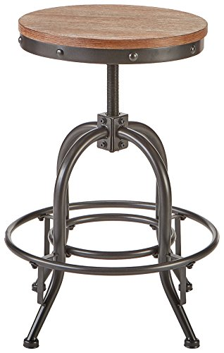 Pioneer Square Dane Metal And Wood Counter Height Swivel Bar Stool Set Of 2 Bold Brandy 0 0