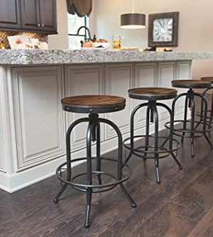 Pioneer Square Dane Metal And Wood Counter Height Swivel Bar Stool Set Of 2 Bold Brandy 0 1 300x333
