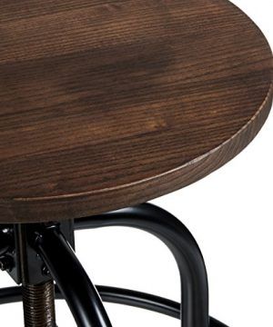 Pioneer Square Dane Metal And Wood Counter Height Swivel Bar Stool Set Of 2 Bold Brandy 0 2 300x360