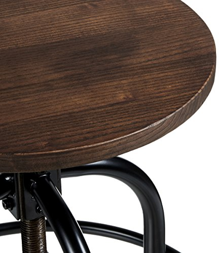 Pioneer Square Dane Metal And Wood Counter Height Swivel Bar Stool Set Of 2 Bold Brandy 0 2