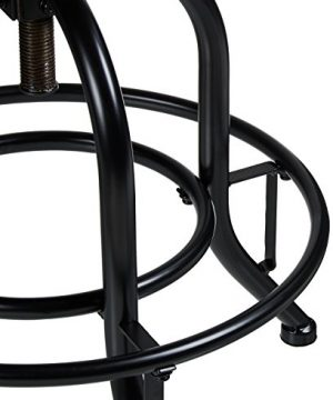 Pioneer Square Dane Metal And Wood Counter Height Swivel Bar Stool Set Of 2 Bold Brandy 0 3 300x360