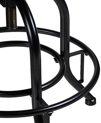 Pioneer Square Dane Metal And Wood Counter Height Swivel Bar Stool Set Of 2 Bold Brandy 0 3